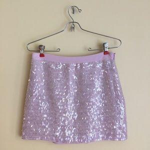 NWT Club Monaco Shiny Sequined Purple Skirt sz 4